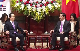 Chủ tịch nước Trần Đại Quang tiếp Chủ tịch Quốc hội Hàn Quốc