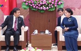 Chủ tịch Quốc hội tiếp Đoàn Đảng Dân tiến Nhật Bản