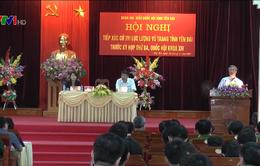 Đồng chí Trần Quốc Vượng tiếp xúc cử tri lực lượng vũ trang tỉnh Yên Bái