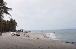 Cát bồi lấp mạnh trở lại ở cửa biển Cửa Đại