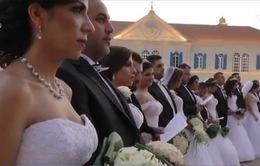 37 cặp đôi cùng tổ chức lễ cưới tập thể hoành tráng tại Lebabon