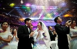4.000 cặp uyên ương từ 64 quốc gia làm đám cưới tập thể ở Hàn Quốc
