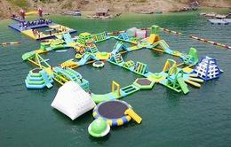 Khám phá công viên nước giữa lòng hồ ở Hòa Bình