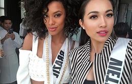 Lệ Hằng vào top 5 Thí sinh được yêu thích ở Miss Universe