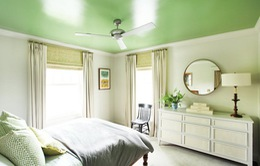 Tạo điểm nhấn nổi bật cho không gian trong nhà bằng màu xanh lá dịu mát