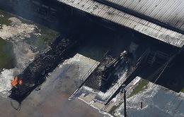 Cháy lớn ở nhà máy hóa chất Texas, Mỹ sau bão Harvey