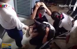 Ba học sinh lớp 7 bị hai nữ sinh lớp 9 đánh dã man