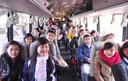 Chở miễn phí hơn 1.000 sinh viên Đại học Huế đã về quê ăn Tết