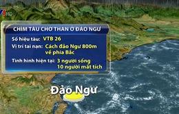 Chìm tàu chở than 4.700 tấn tại đảo Hòn Ngư