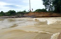 Mưa lớn gây vỡ đập tại Hà Tĩnh