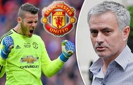 Jose Mourinho báo tin mừng về chấn thương của De Gea