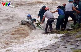 Xảy ra sạt lở đê kè tại Nghệ An
