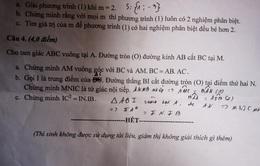 Sở GD&ĐT Quảng Nam ra sai đề thi Toán lớp 9