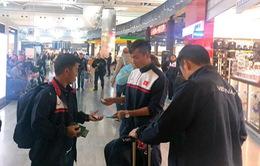 ĐT Việt Nam đã tới Istanbul, nghỉ ngơi chờ nối chuyến về Hà Nội