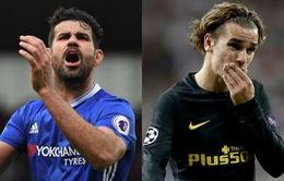 Atletico Madrid bị cấm chuyển nhương: Vụ Costa, Griezmann coi như đổ bể