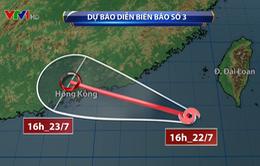Áp thấp nhiệt đới và bão số 3 cùng xuất hiện trên Biển Đông