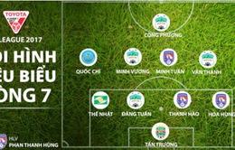 Công Phượng và HAGL cùng Than Quảng Ninh áp đảo đội hình tiêu biểu vòng 7 giải VĐQG 2017