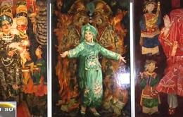 Tín ngưỡng thờ mẫu trong tranh sơn mài