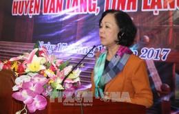 Đồng chí Trương Thị Mai dự Ngày hội Đại đoàn kết toàn dân tộc tại Lạng Sơn