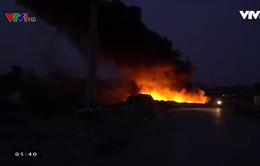 Ô nhiễm nặng nề do đốt rác thải công nghiệp