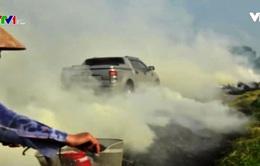 Hà Nội mịt mù khói vì nông dân đốt rơm rạ