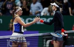 Bảng trắng WTA Finals 2017: Thắng Ostapenko, Muguruza khởi đầu thuận lợi
