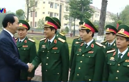 Chủ tịch nước làm việc với các lực lượng vũ trang