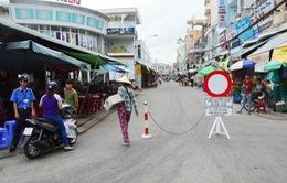 Đã tháo dỡ rào chắn ở chợ trung tâm thành phố Sóc Trăng