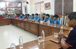 Vòng loại bóng đá nữ vô địch châu Á 2018: ĐT Việt Nam họp đấu pháp trước trận gặp Singapore