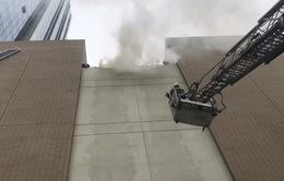 Diễn tập phương án chữa cháy và cứu hộ tại tầng 16 tòa nhà Trung tâm Đài THVN