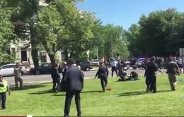 Mỹ: Người biểu tình đụng độ với nhân viên an ninh ĐSQ Thổ Nhĩ Kỳ