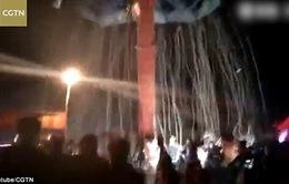 Sập đu quay khổng lồ tại Trung Quốc, 9 người bị thương