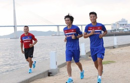 SEA Games 29: U22 Việt Nam đã đến Hàn Quốc và tập nhẹ ngay buổi đầu tiên