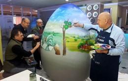 Những tác phẩm trang trí trứng phục sinh khổng lồ tại Croatia