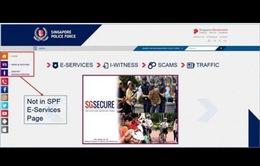 Singapore phát cảnh báo lừa đảo tiền bạc thông qua trang mạng