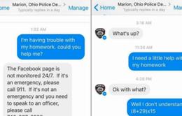 Mỹ: Cảnh sát giúp bé gái làm bài tập về nhà qua Facebook messenger