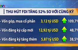 Thu hút FDI tăng mạnh nhờ hoạt động góp vốn, mua cổ phần