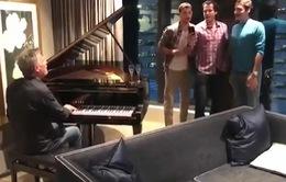 Tài ca hát của Federer và Dimitrov