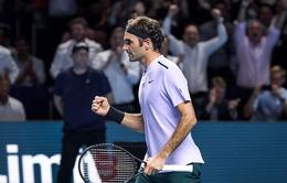 Thắng nhàn Goffin, Federer thẳng tiến vào chung kết Basel mở rộng 2017