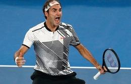 Khuất phục Nishikori sau 5 set, Federer giành vé vào tứ kết Australia mở rộng 2017