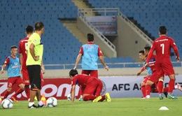 Buổi tập cuối cùng của ĐT Việt Nam trước trận gặp ĐT Campuchia