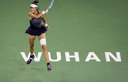 Giải quần vợt Vũ Hán mở rộng: Muguruza giành quyền vào tứ kết