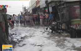 Đồng Nai: Nổ bình gas giữa đường, người dân hoảng loạn bỏ chạy