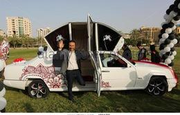 Xe cưới được lắp ráp từ phụ tùng của 5 chiếc xe hơi tại dải Gaza