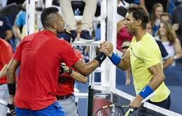 """Trai hư"" Kyrgios thổi bay Nadal khỏi Cincinnati 2017"