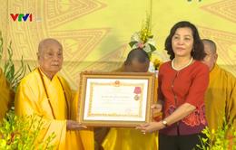 Giáo hội Phật giáo tỉnh Ninh Bình nhận Huân chương Lao động hạng Ba
