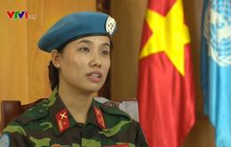 """Nữ sĩ quan Việt Nam tham gia gìn giữ hòa bình LHQ: """"Tôi sẽ cố gắng vượt qua khó khăn, thử thách"""""""