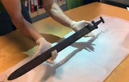 Tìm thấy thanh gươm cổ 1.100 tuổi của người Viking tại Na Uy