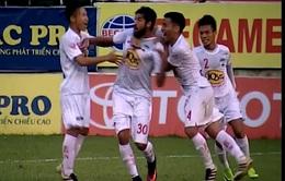 Vòng 17 V.League 2017: HAGL 4 - 2 Than Quảng Ninh, SLNA 1 - 2 CLB Hà Nội, Sanna Khánh Hòa BVN  1-0 CLB TP.Hồ Chí Minh