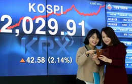 Chứng khoán Hàn Quốc giao dịch ở mức cao nhất mọi thời đại